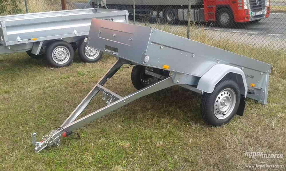 Nový sklopný přívěsný vozík.