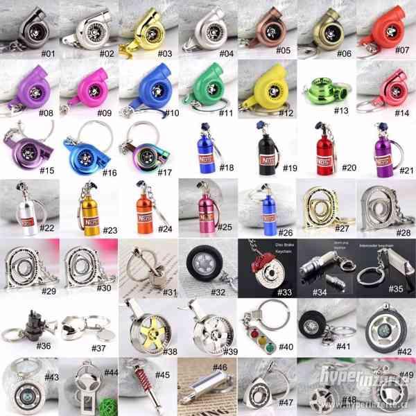 ! Tuning přívěšek na klíče - turbo,tlumič,blow off atd...!