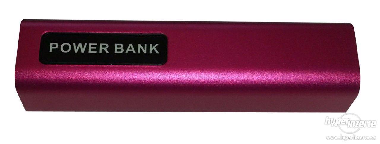 Powerbank 2600mAh - mobilní akumulátor (fialová perleť)