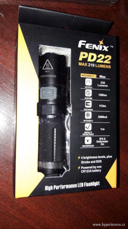 Svítilna Fenix PD22 (210 lumenů)