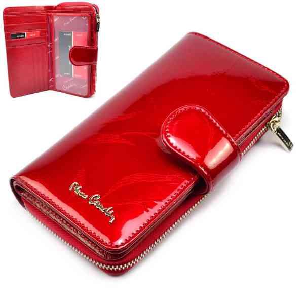 Kožená dámská barevná peněženka