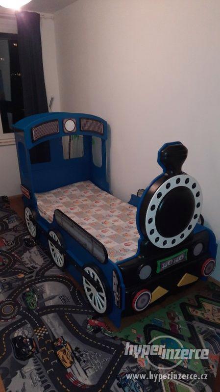 Dětská postýlka mašinka - foto 1