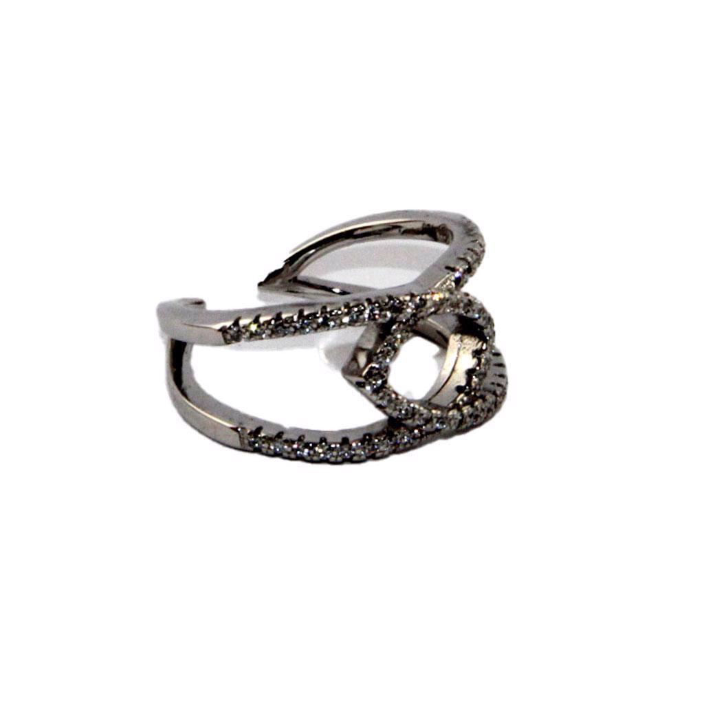 Andrea Bellini - Stříbrný prsten/prstýnek se zirkony Velikos - foto 1