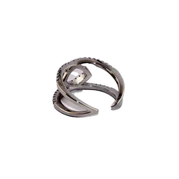 Andrea Bellini - Stříbrný prsten/prstýnek se zirkony Velikos - foto 3