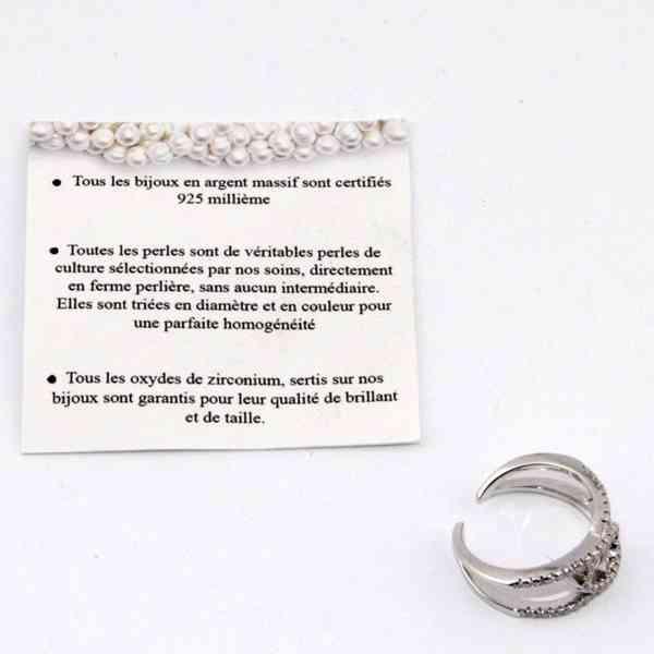 Andrea Bellini - Stříbrný prsten/prstýnek se zirkony Velikos - foto 2