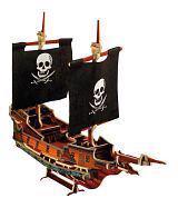 Dřevěné 3D puzzle lodě