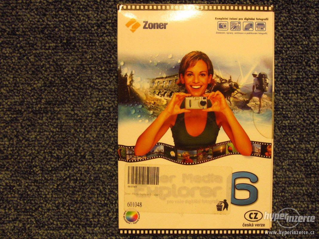 SW CD pro úpravu fotografií Zoner Media 6, sbírkový kus. - foto 1