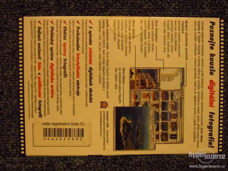 SW CD pro úpravu fotografií Zoner Media 6, sbírkový kus. - foto 2