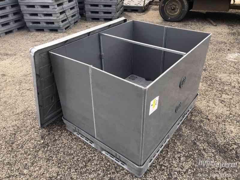 Plastový skládací box, pro přepravu a skladování, jako nový
