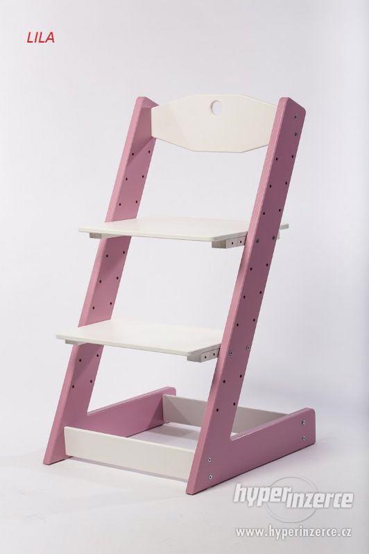 Rostoucí židle ALFA II - různá barevná kombinace - foto 7