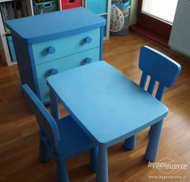 Modrý nábytek do dětského pokoje IKEA Mammut