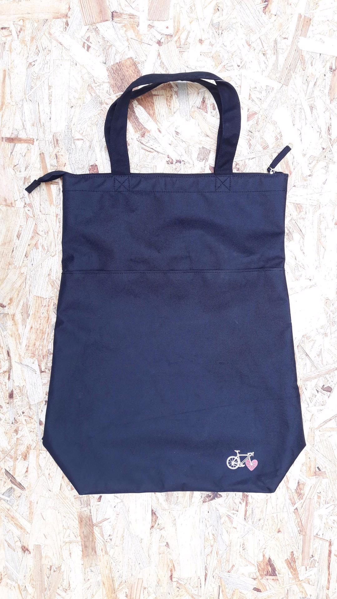 Cyklistická taška / brašna se závěsem, uchy a zipem. - foto 1