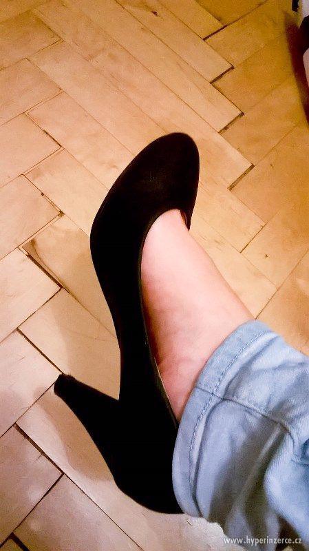 Černé lodičky / taneční, plesové boty