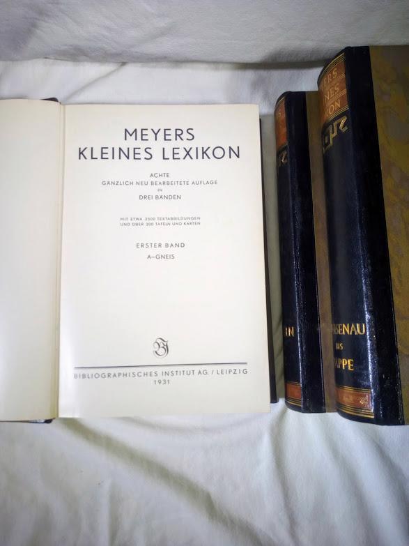 MEYERS  KLEINES  LEXIKON   (tři svazky) - foto 4