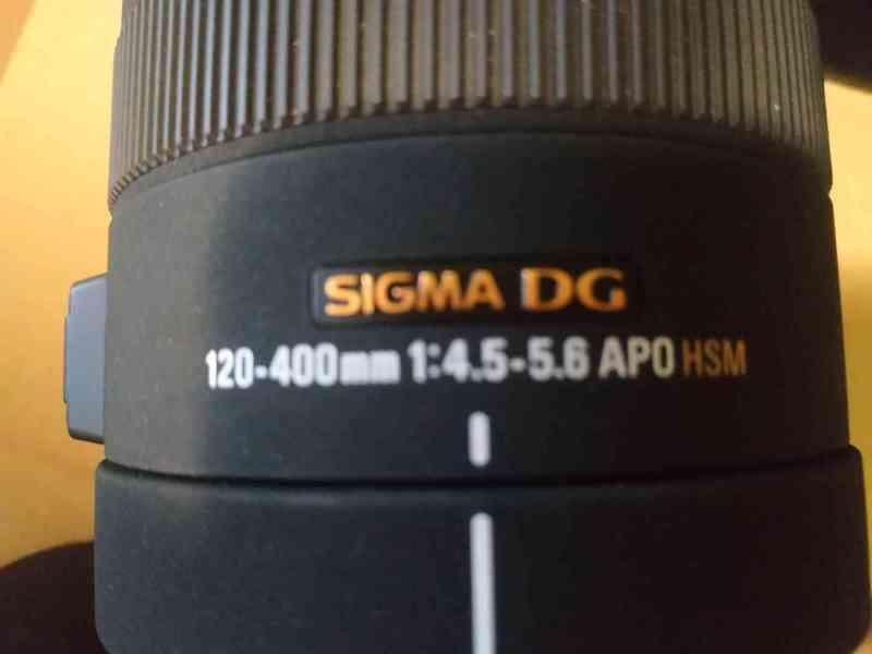 Objektiv SIGMA 120 - 400mm, APO DG HSM pro MINOLTA/SONY A - foto 3
