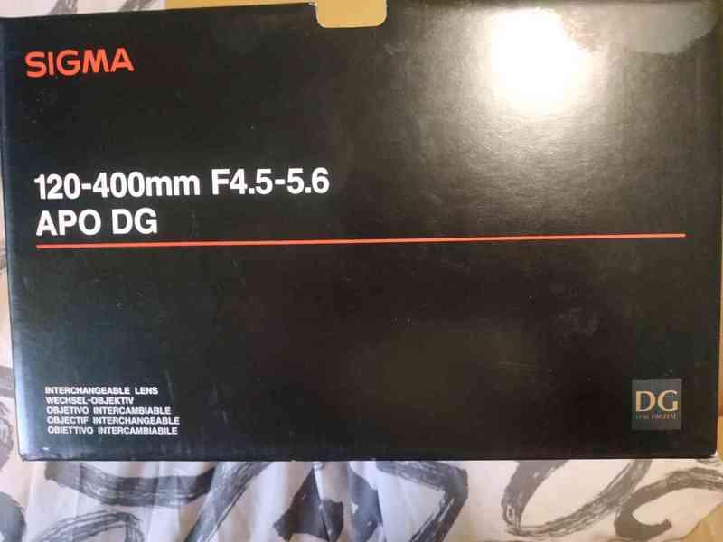 Objektiv SIGMA 120 - 400mm, APO DG HSM pro MINOLTA/SONY A