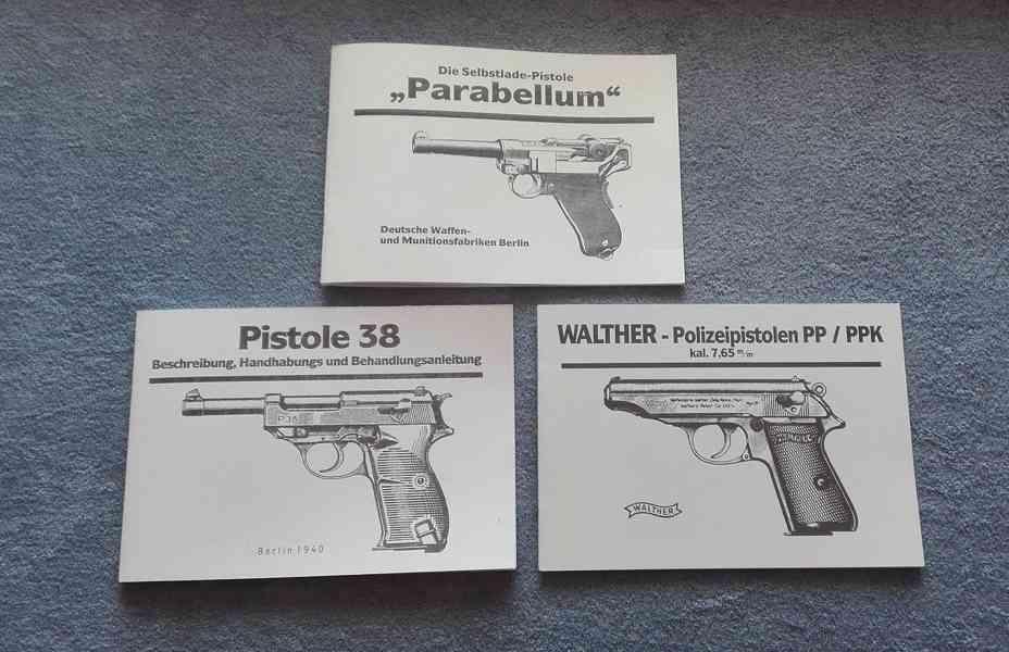 Příručka ke zbrani P08, vz 24, P38, C96, PP/PPk i v PDf