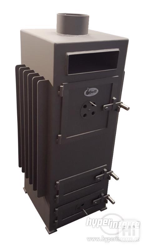 Ocelová kamna horkovzdušná s ventilátory - foto 1