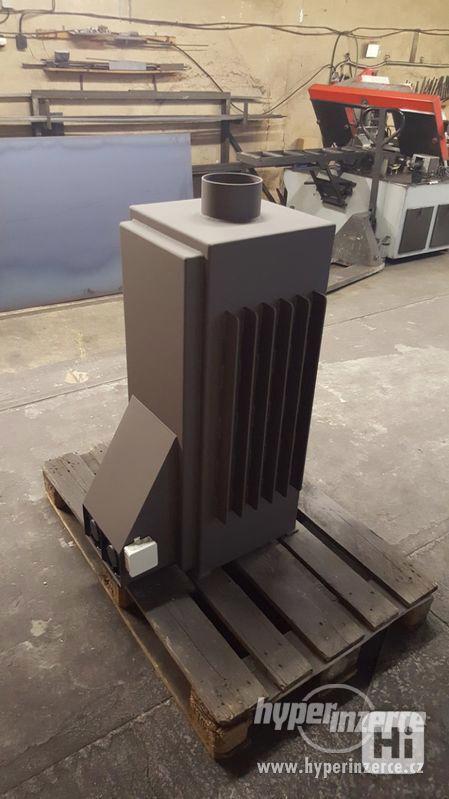 Ocelová kamna horkovzdušná s ventilátory - foto 2