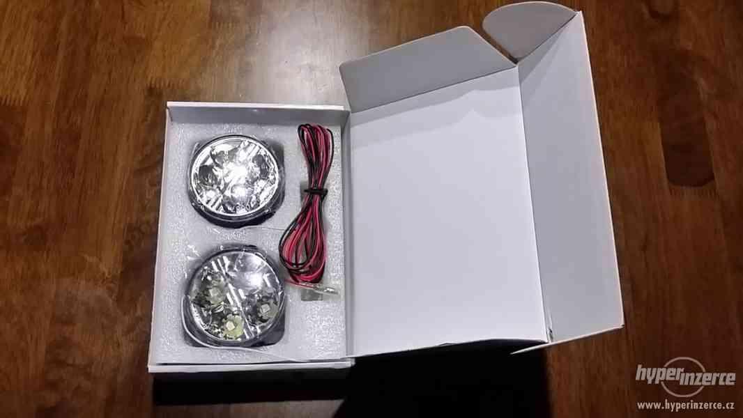Světla pro denní svícení, DRL 4LED diody, kulatá - homolog. - foto 5