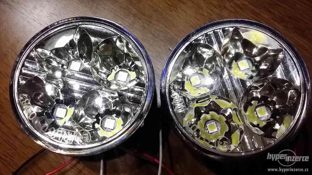 Světla pro denní svícení, DRL 4LED diody, kulatá - homolog. - foto 6