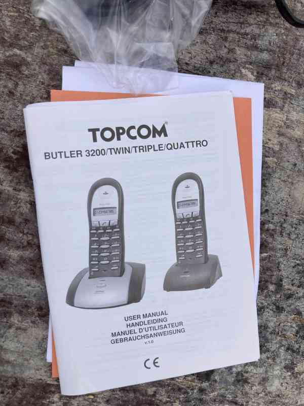 Bezdrátový telefon Topcom Butler 3200 - nový - foto 6