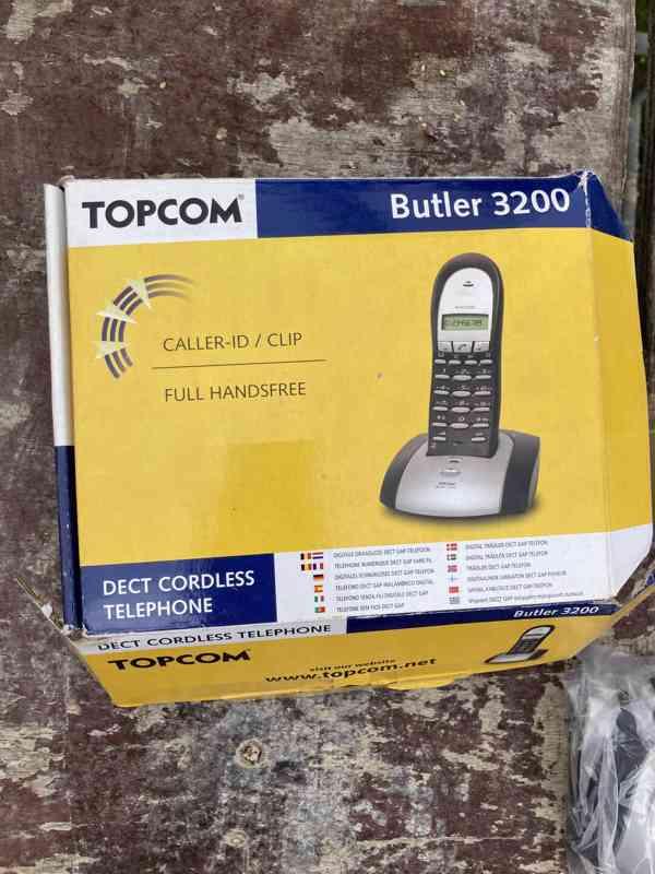 Bezdrátový telefon Topcom Butler 3200 - nový - foto 5