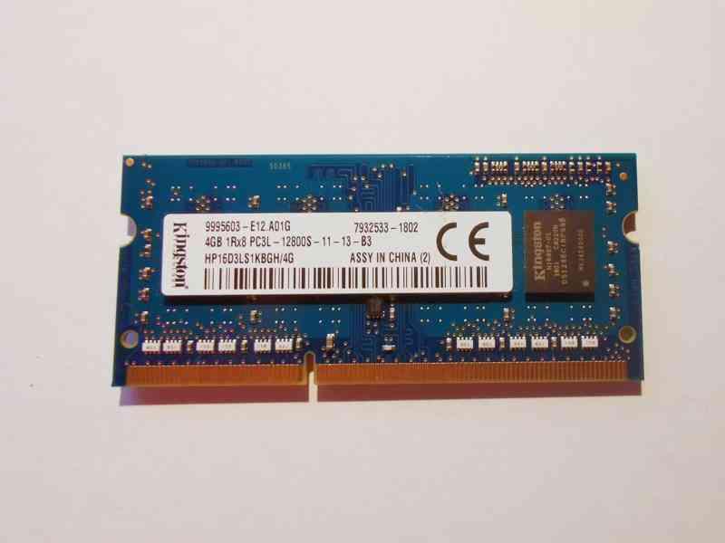 4GB RAM SODIMM DDR3L-1600 Low-Voltage paměť 1.35V notebook
