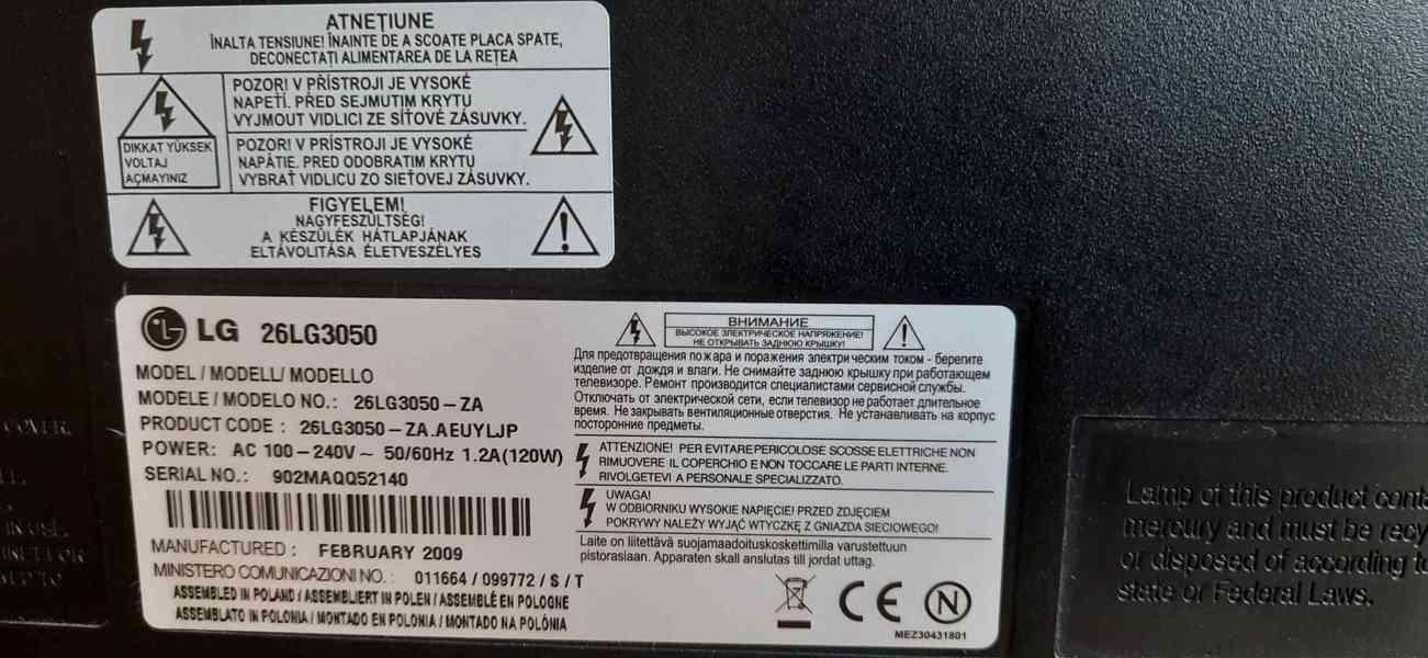 Použitá LG LCD TV 65cm + Set top box Tesla TE - 300 - foto 11