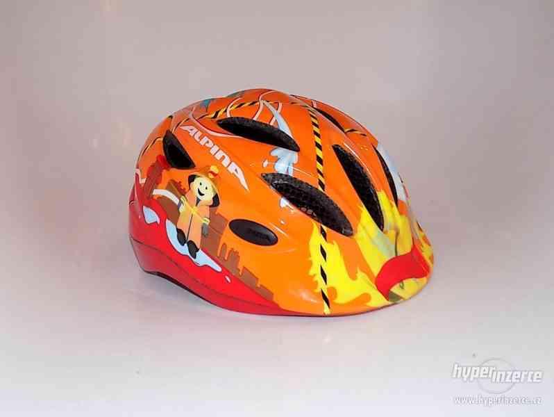 Dětská cyklistická helma S/M přilba na kolo Alpina 51-56cm.