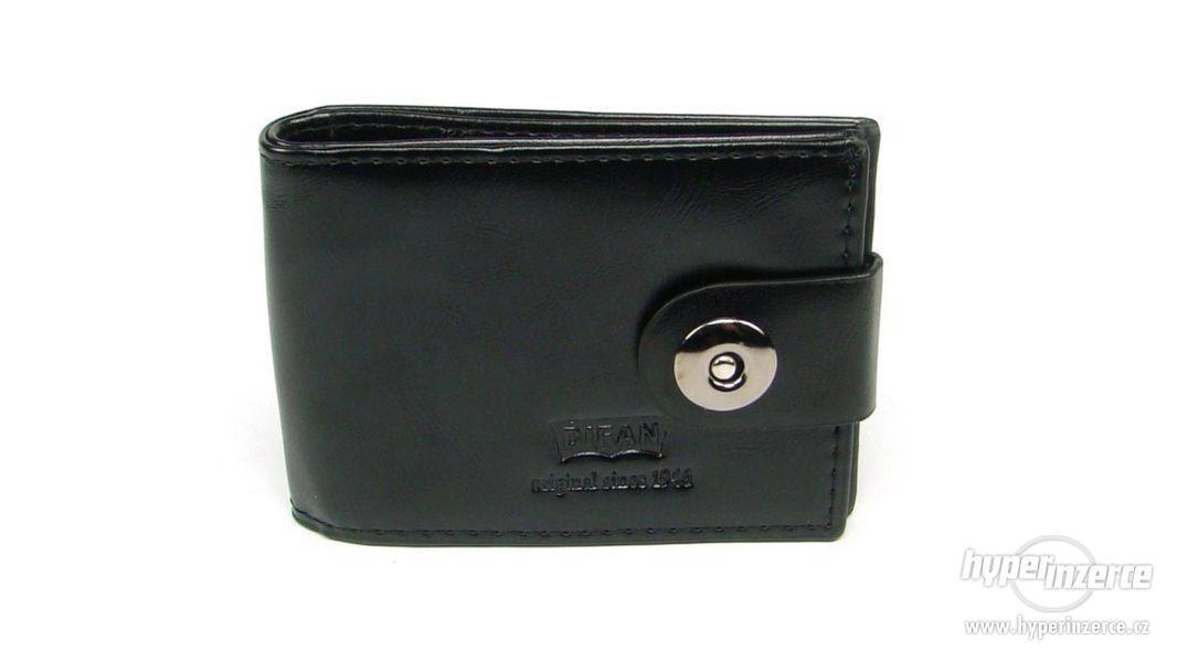 Černá peněženka kožená pánská