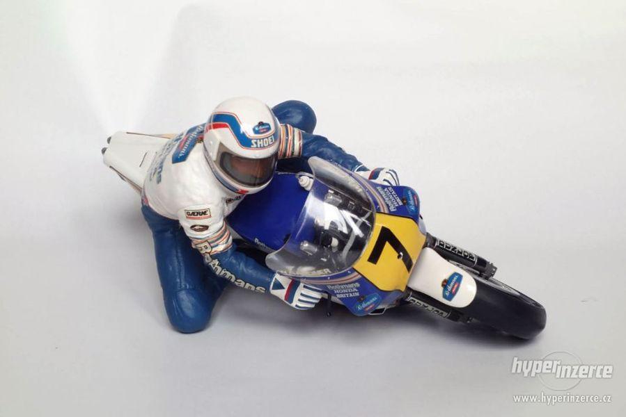 model motocyklu Honda NSR 500 Wayne Gardner+jezdec
