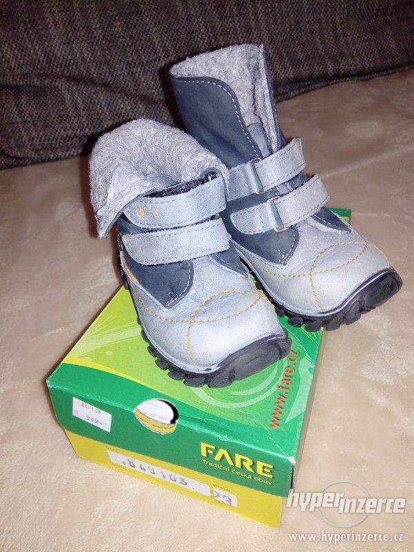 Prodám dětské zimní boty Fare