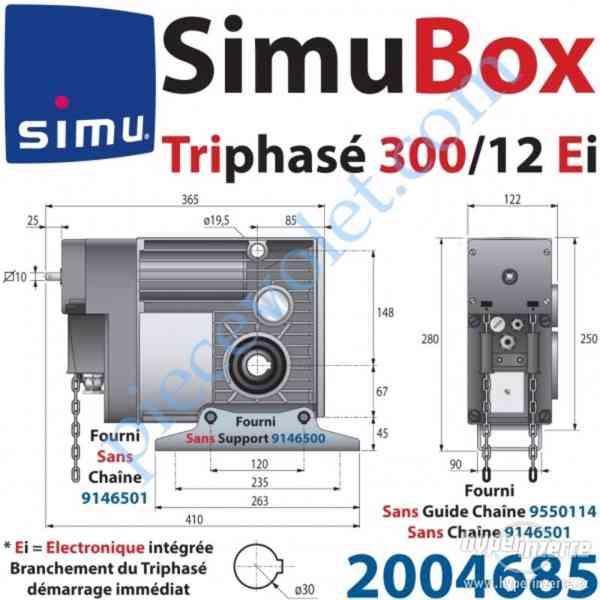 Motor s prevodovkou SIMU BOX 300/12 - foto 1