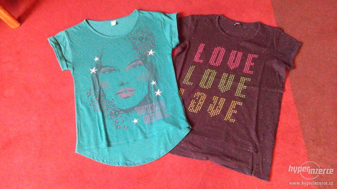 Dívčí trička 2 kusy - foto 1