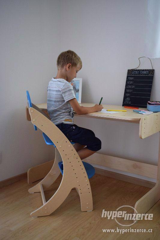 Dětská rostoucí židle PARIS - modrá