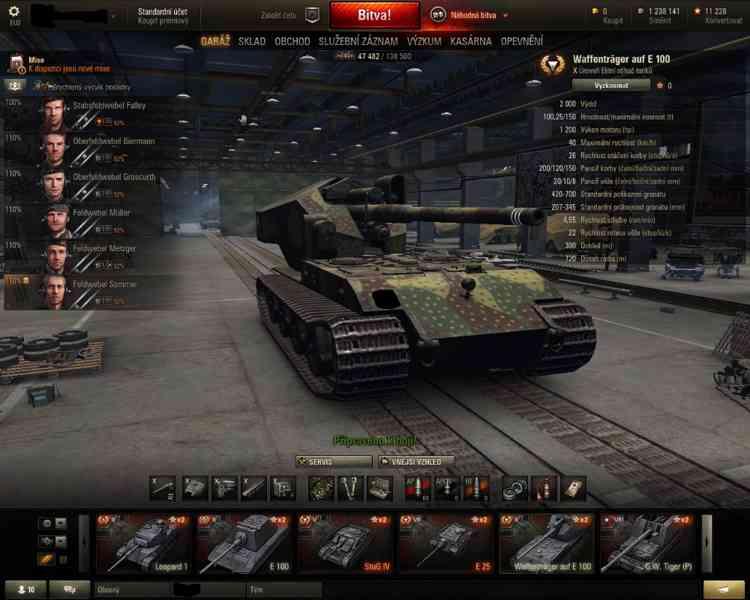 Účet World of Tanks