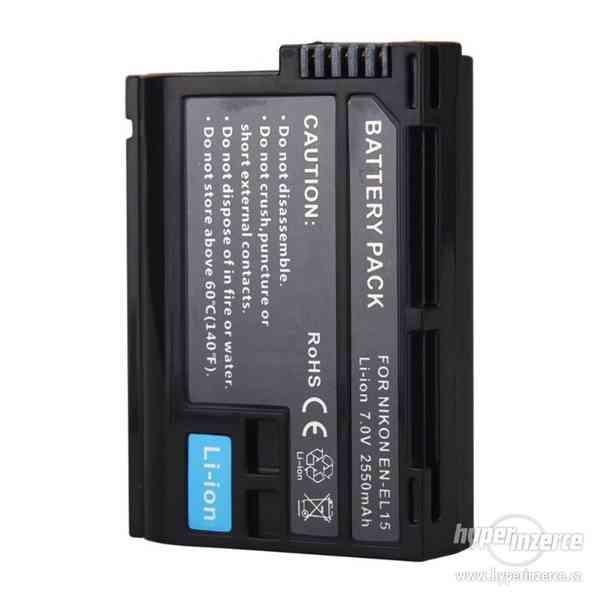 2550mAh baterie / akumulátor EN-EL15 Nikon D750 - foto 1