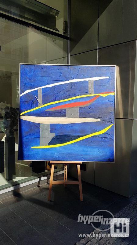 Moderní abstraktní obraz - VELKOFORMÁT - foto 3