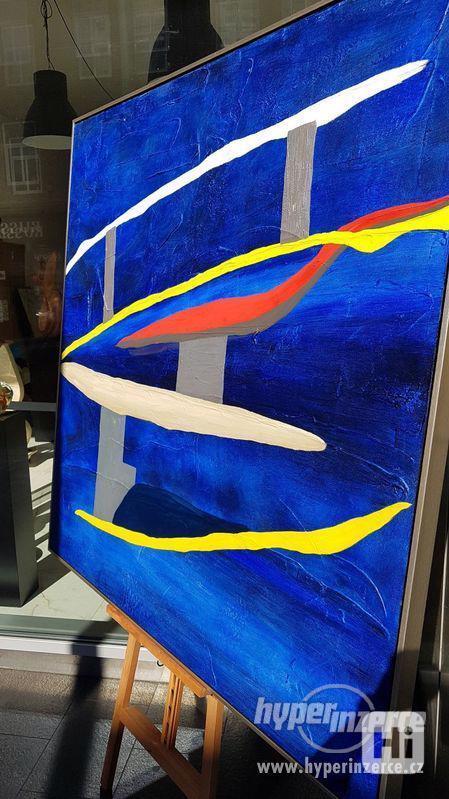 Moderní abstraktní obraz - VELKOFORMÁT - foto 4