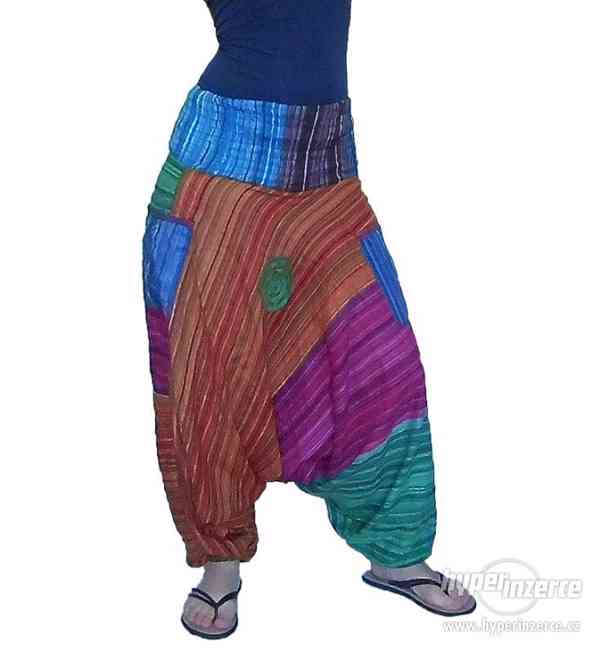 Harémové Etno kalhoty z Indie ze 100% bavlny