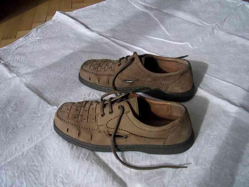 Elegantní pánské kožené boty EasyStreet, velik. 44 - foto 3