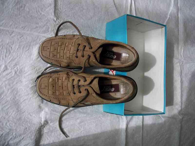 Elegantní pánské kožené boty EasyStreet, velik. 44 - foto 8