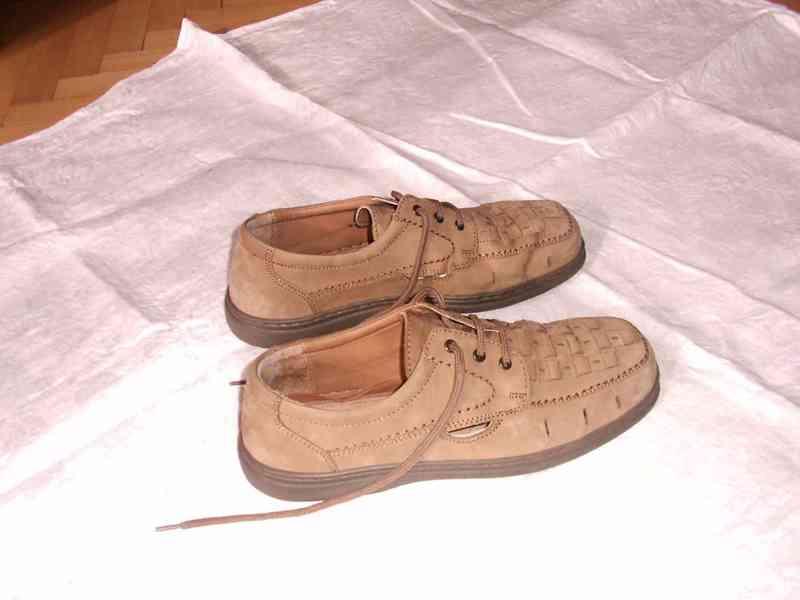 Elegantní pánské kožené boty EasyStreet, velik. 44 - foto 4