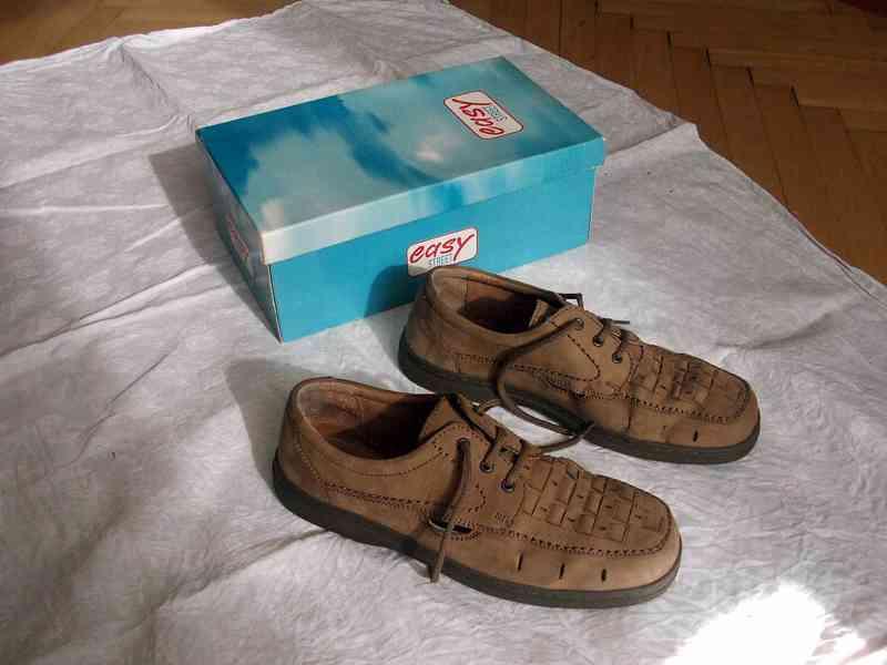 Elegantní pánské kožené boty EasyStreet, velik. 44 - foto 6