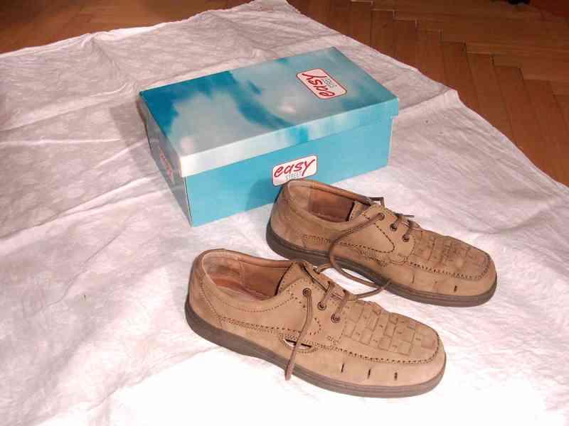 Elegantní pánské kožené boty EasyStreet, velik. 44 - foto 7