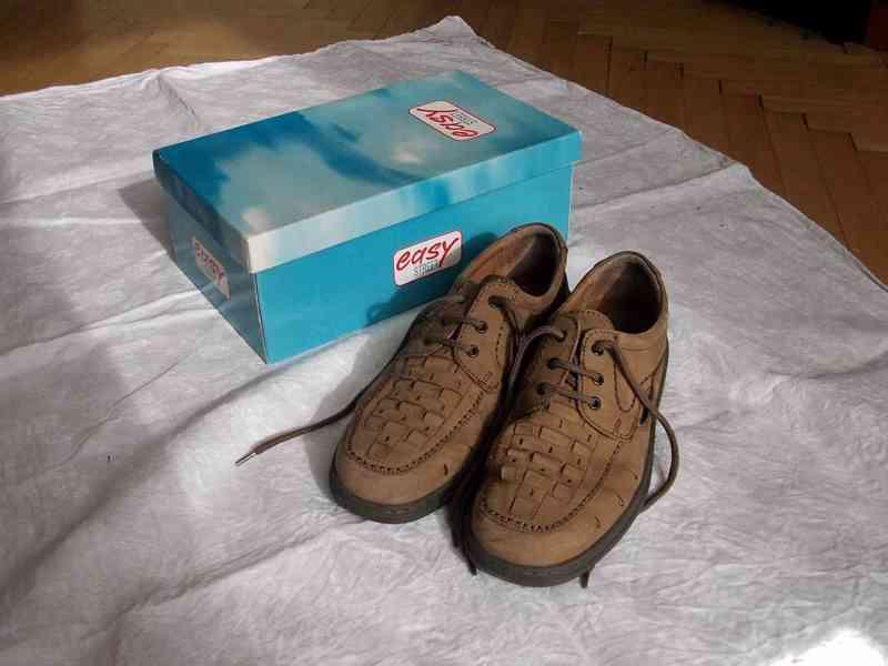Elegantní pánské kožené boty EasyStreet, velik. 44 - foto 5