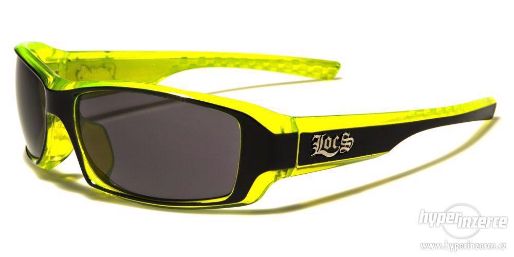 Prodám motorkářské zelené sluneční brýle Locs LC91042