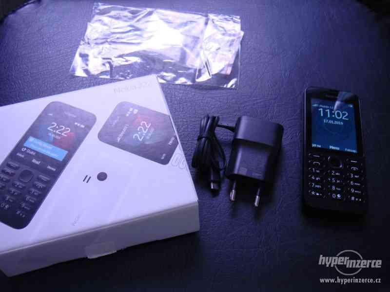 mobil nokia 222 ss + nabíječka,záruka 10 měsícu