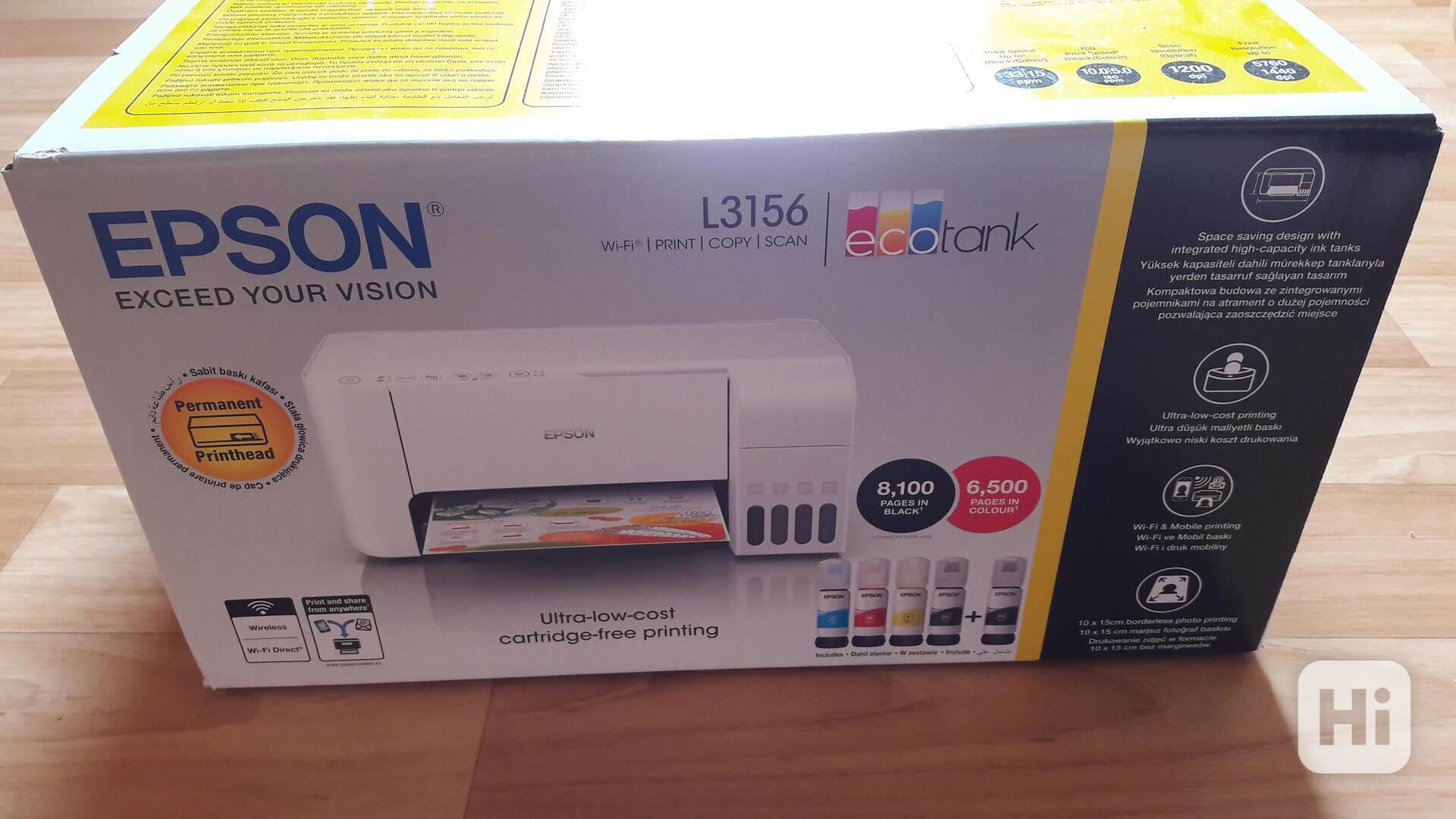 Prodám tiskárnu EPSON L3156,NOVÁ,NEROZBALENÁ,VELMI LEVN TISK - foto 1